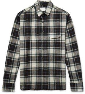 Simon Miller Bexar Slim-Fit Checked Wool-Gauze Shirt