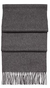 Aspinal of London Pure Cashmere Scarf In MidGrey