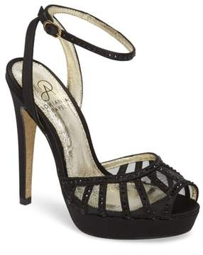 Adrianna Papell Simone Crystal Embellished Platform Sandal
