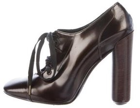 Marc Jacobs Patent Leather Square-Toe Booties
