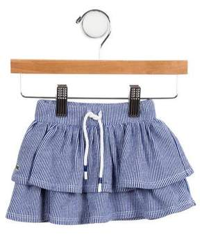 Lacoste Girls' Tiered Striped Skirt