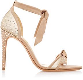 Alexandre Birman Clarita Swarovski Crystal-Embellished Suede and Woven Sandals