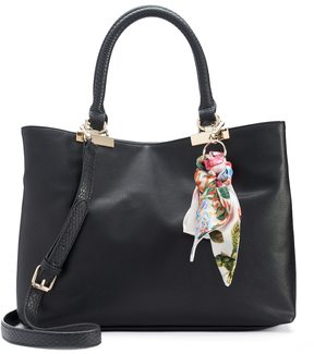 Apt. 9 Jade Soft Satchel with Botanical Skinny Scarf