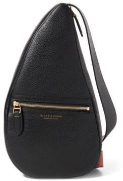 Ralph Lauren Calfskin Sling Backpack Black One Size