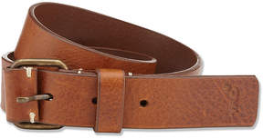 Marie Chantal Boys Leather Buckle Belt - Tan
