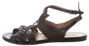 Alaia Whipstitch Leather Sandals