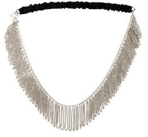 Maison Michel Chain-Link Fringe Headband