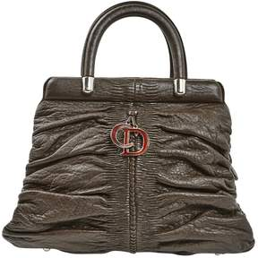 Christian Dior Vintage Brown Leather Handbag