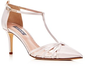 Sarah Jessica Parker Carrie T Strap Pointed Toe Pumps
