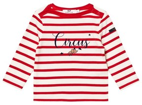 Cyrillus Red and White Stripe Long Sleeve T-Shirt