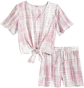 Love, Fire 2-Pc. Printed Top & Shorts Set, Big Girls
