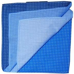 Tommy Hilfiger Mens Polka Dot Pocket Square Blue One Size