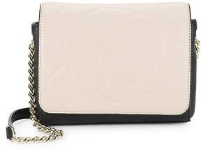 Karl Lagerfeld Paris Women's Embossed Leather Crossbody Bag