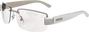 Nine West Womens Semi Rimless Silver Sunglasses One Size Silver tone