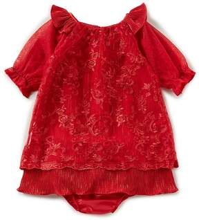 Rare Editions Baby Girls 12-24 Months Embroidered Ruffle-Sleeve Dress