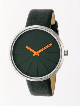 Simplify The 4000 SIM4002 Silver and Forest Green Leather Analog Watch