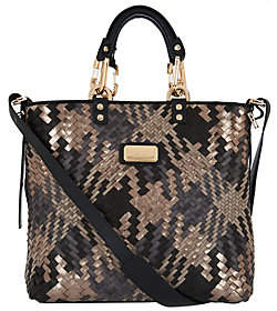 Plinio Visona PLINIO VISONA' Intreccio Italian Leather Woven Shopper