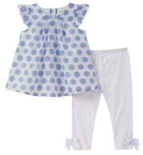 Absorba Baby Girl's Two-Piece Top and Leggings Set