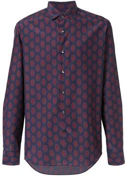 Salvatore Ferragamo patterned slim fit shirt