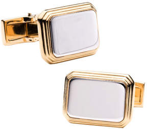 Ravi Ratan Men's Two Tone Rectangular Cufflinks