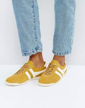 Gola Bullet Suede Sneakers In Mustard