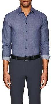 Giorgio Armani Men's Textured Cotton Poplin Shirt