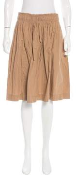 Apiece Apart Pleated Knee-Length Skirt