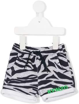 Kenzo zebra print casual shorts