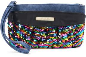 Juicy Couture Rosie Sequin Denim Wristlet
