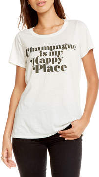 Chaser Happy Champagne Cutout Tee