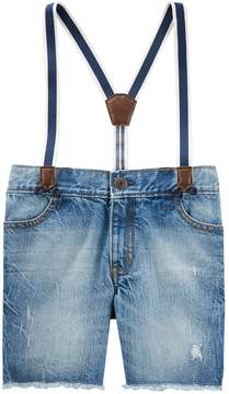 Osh Kosh Oshkosh Bgosh Toddler Boy Suspender Sun Faded Shorts