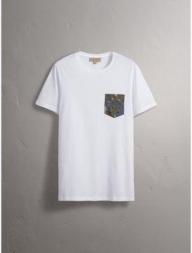 Burberry Beasts Jacquard Pocket Detail Cotton T-shirt