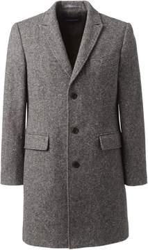 Lands' End Lands'end Men's Tailored Fit Abraham Moon Wool Peak Lapel Topcoat