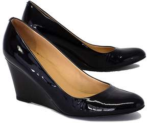 J.Crew Black Patent Leather Wedge Pumps