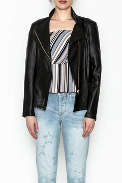 Clara Sunwoo Faux Leather Jacket