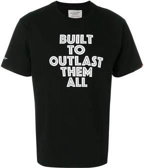 Neighborhood slogan print T-shirt