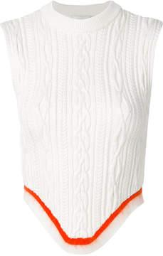 Esteban Cortazar open back corset knitted top