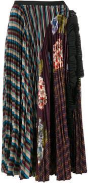 Antonio Marras patchwork pleated skirt
