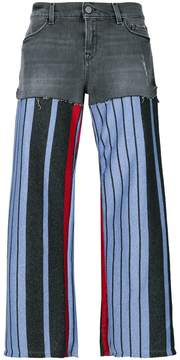 Circus Hotel knit-panelled jeans