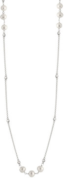 Bella Pearl Silver Rhodium Plated Necklace