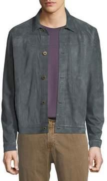 Billy Reid Cullen Button-Front Suede Jacket