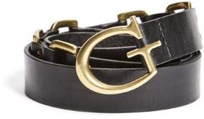 GUESS Women's Goldie Rivet and Ring Belt
