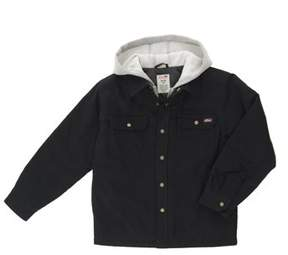 Dickies Genuine  Boys' Long Sleeve Hooded Canvas Overshirt Jacket