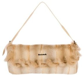 Giuliana Teso Sable-Trimmed Fur Bag