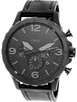 Fossil Men's JR1354 Nate Leather Watch, 50mm