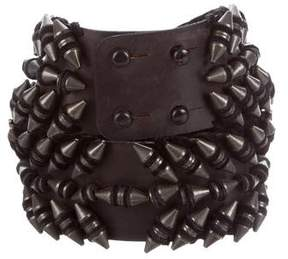 Balmain Metal-Embellished Waist Belt