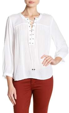 Velvet by Graham & Spencer Alya Lace Up Blouse
