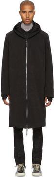 11 By Boris Bidjan Saberi Black Long Hooded Coat