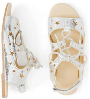 Gymboree Metallic Silver Star Sandal - Girls