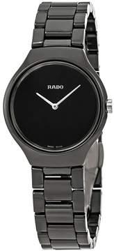 Rado True Thinline Black Dial Ladies Watch